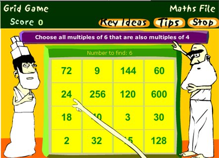Grid Game - (BBC - Maths File)