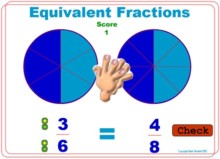 Equivalent Fractions - (Mark Weddell)