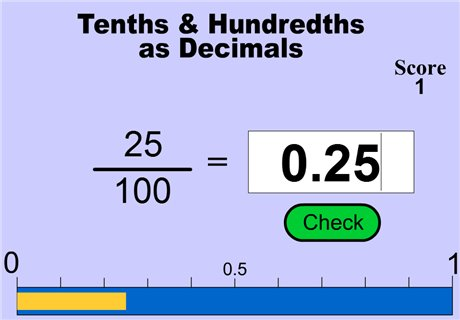 Tenths and Hundredths - (Mark Weddell)