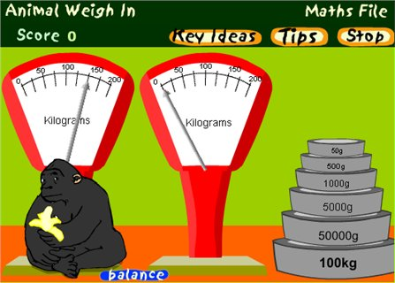 Animal Weigh-In - (BBC - Maths File)