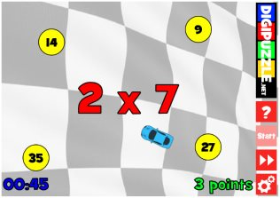 Math Racer Multiplications