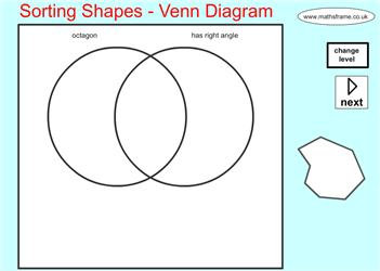 sorting shapes venn diagram mathsframe maths zone cool learning games. Black Bedroom Furniture Sets. Home Design Ideas
