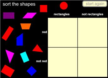 2d shape archives maths zone cool learning games sort shapes by rectangles and red in a carroll diagram no errors possible ccuart Choice Image