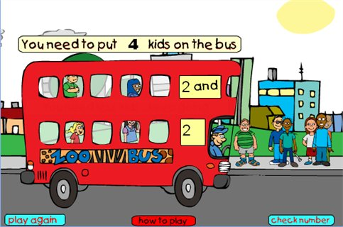 Kids On The Bus Count Us In Maths Zone Cool Learning Games