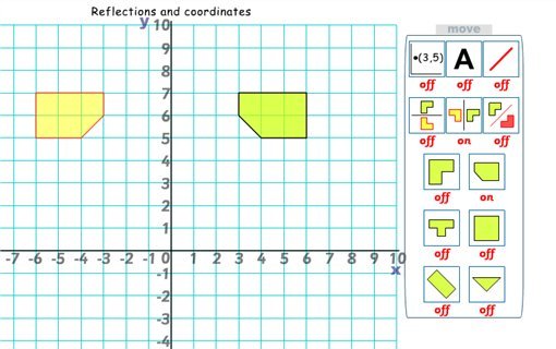 Reflections & coordinates - Active Maths - Maths Zone Cool Learning ...