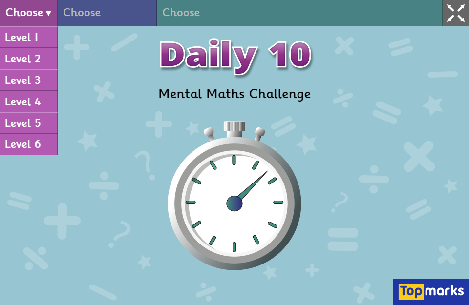 Daily 10 - Maths Zone Cool Learning Games